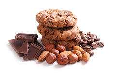 Chocolate cookies with chocolate Royalty Free Stock Image