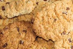 Chocolate cookies close-up. Homemade chocolate cookies detail Stock Photo