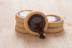 Chocolate cookies, close-up Stock Photography