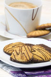 Chocolate Cookies and Coffee Royalty Free Stock Photos