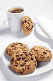 Chocolate cookies and coffee Stock Photo