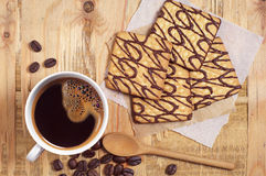 Chocolate cookies with coffee Royalty Free Stock Photography