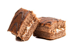 Chocolate cookies with cream filling Stock Image