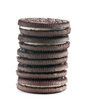 Chocolate cookies with cream Royalty Free Stock Images