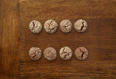 Chocolate Cookies Equal Sign Stock Photography