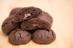 Chocolate cookies with ginger and orange royalty free stock photos