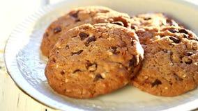 Chocolate cookies stock video