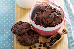 Chocolate cookies i a bowl Royalty Free Stock Images