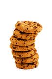 Chocolate cookies isolated Stock Photos