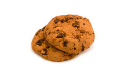 Chocolate cookies isolated Royalty Free Stock Photos
