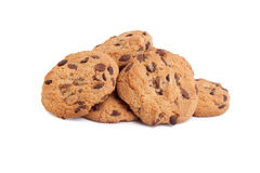 Chocolate Cookies Isolated On White Royalty Free Stock Photography