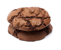 Chocolate cookies isolated Stock Images