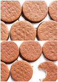 Chocolate cookies isolated. On white background stock photography