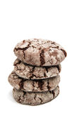 Chocolate cookies isolated Royalty Free Stock Images
