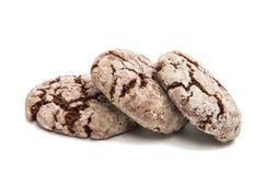 Chocolate cookies isolated Stock Photos