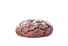 Chocolate cookies isolated on the white background Stock Photos
