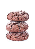 Chocolate cookies isolated on the white background Stock Photo