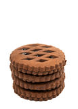 Chocolate cookies with jam Royalty Free Stock Photos