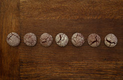 Chocolate Cookies Line Royalty Free Stock Image