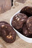 Chocolate Cookies (with macadamia nuts) Royalty Free Stock Photos