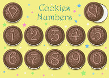 Chocolate Cookies Numbers stock image