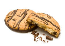 Chocolate cookies with nuts Royalty Free Stock Photography