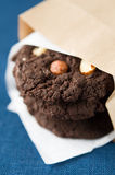 Chocolate cookies with nuts Stock Photography