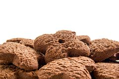 Chocolate cookies pile Royalty Free Stock Image