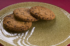 Chocolate cookies on a plate Stock Images