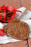 Chocolate  cookies in the shape of  heart Stock Images