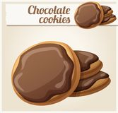 chocolate cookies three η αλλοδαπή γάτα κινούμενων σχεδίων δραπετεύει το διάνυσμα στεγών απεικόνισης Στοκ εικόνες με δικαίωμα ελεύθερης χρήσης