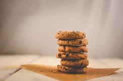 chocolate cookies three Στοκ εικόνες με δικαίωμα ελεύθερης χρήσης