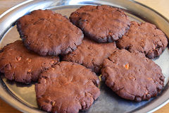 chocolate cookies three Στοκ φωτογραφίες με δικαίωμα ελεύθερης χρήσης