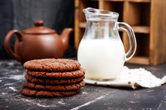 chocolate cookies three Στοκ εικόνα με δικαίωμα ελεύθερης χρήσης