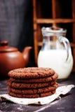 chocolate cookies three Στοκ φωτογραφία με δικαίωμα ελεύθερης χρήσης