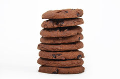 Chocolate cookies tower Royalty Free Stock Photography