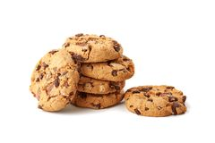 Chocolate cookies on white Royalty Free Stock Photos