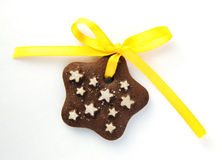 Chocolate Cookies With Yellow Bow Royalty Free Stock Images