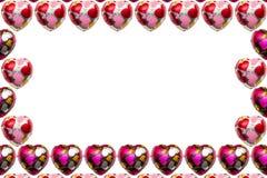 Chocolate coração-dado forma no fundo branco imagem de stock royalty free