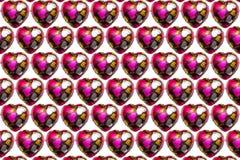 Chocolate coração-dado forma no fundo branco foto de stock