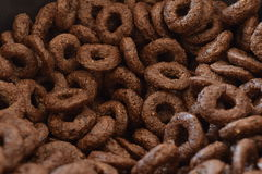 Chocolate Corn Flakes. Breakfast Chocolate Corn Flakes Close Up Stock Photography