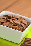 Chocolate Corn Flakes Cereal stock photos