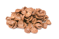 Chocolate Corn Flakes Isolated Stock Photography