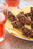 Chocolate Cornflake Cakes Stock Photos