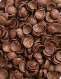 Chocolate cornflakes backrgound Stock Photo