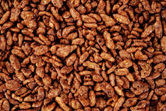 Chocolate cornflakes backrgound Stock Photos