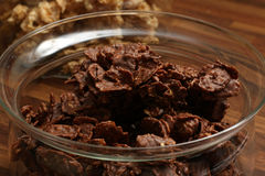 Chocolate Cornflakes XVIII. A close up picture of some cornflakes with chocolate Royalty Free Stock Photo