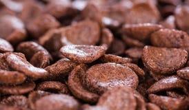 Chocolate cornklakes background Royalty Free Stock Image