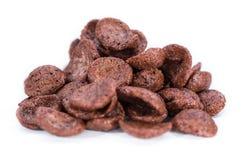 Chocolate cornklakes isolated on white Royalty Free Stock Photography