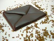 Chocolate - correio imagem de stock